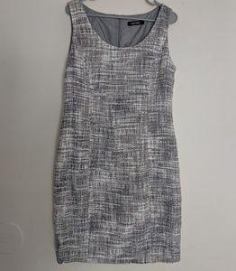 Ellen Tracy Tweed Speckle Sheath Work Wear Dress